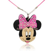 1PCS Mickey Minnie 51cm Necklace+ hot Cartoon PVC Pendant Chain Collar Choker Pendant Fashion Jewelry Boy/Girl's Hot Accessories