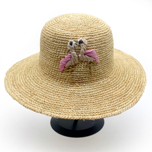 GGOMU 2017 Summer New Fashion Flamingo Women Sun Hats Natural Raffia girls Beach Hats straw hat Chapeau Soleil Femme ZLH-071