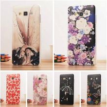 Phone Case For Samsung Galaxy A5 Luxury Bling Floral Rhinestone Painted 3D diamond For Samsung Galaxy A5 2015 Flower Cover Case