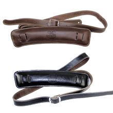 "Solder Shoulder Padding Superior Leather Rockabilly Bass Belt up to 61"" long / Acoustic Folk Classical Guitar Straps"