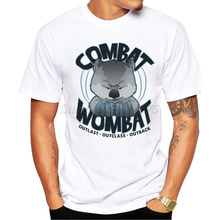 2016 Men's Fighting Wombat Design T Shirt Male Fashion Cool Tops Hipster Printed Summer Tees