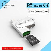 MFi Lightning Micro SD/TF OTG Swivel Card Reader USB 2.0 Memory Mini Cardreader for iPhone 6/6s 7Plus iPod iPad OTG Card Reader