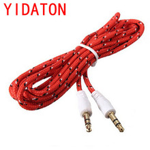 YIDATON Best Price Red 3.5 mm Jack Male to Male Braided Cable Audio Stereo Aux Extension Cable Cord Phone Cable Accessory