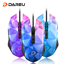 Dareu EM925 Gaming Mouse 10800dpi Adjustment USB 7 Keys Ergonomics Wired Optical Computer Gaming Mice LOL for Professional Gamer(China)