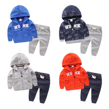 Male child sweatshirt outerwear set 2017 spring children's clothing baby child sports u3896 twinset