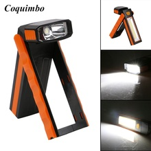 Super Bright COB LED Work Light Inspection Lamp Flashlight Torch Magnetic Hook Hand Tool Garage Outdoors Camping Tent Lantern(China)