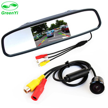 "GreenYi 800*480 5"" HD Car Rearview TFT LCD Color Mirror Monitor with Reversing Rear Backup Camera Parking Assistance System"