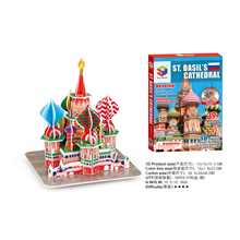 Hot sales jigsaw puzzlethe the St Basil's Cathedral 3D puzzle Educational toys three-dimensional puzzles for children and adult