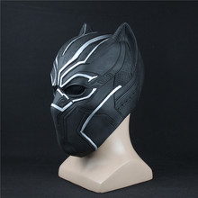 Black Panther Masks Captain America Civil War Roles Cosplay Latex Mask Helmet Costume Halloween Realistic Adult Party Props(China)