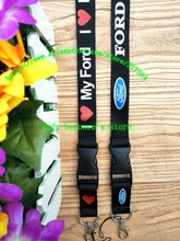 Free shipping 30pcs/lot FORD car lanyards mobile phone neck key chains straps accessory L-1384