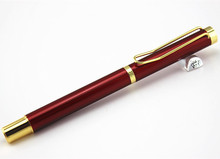 DIKA WEN  Genuine Metal Red Gold Clip Fountain Pen Business Executive Pen as Luxury gift Office school