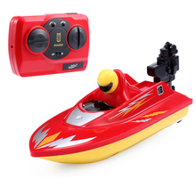 New RC Boat Outdoor Children Toys Radio Control RC 2 Channels Waterproof Mini Electric Boats Speed Boat Airship HUANQI 958A(China)