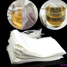 1 Set 50Pcs New Empty Teabags String Heat Seal Filter Paper Herb Loose Tea Bag Free Shipping