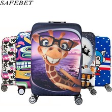 SAFEBET Brand Elastic Luggage Protective Cover For 19-32 inch Trolley Suitcase Protect Dust Bag Case Child Cartoon Travel Cover(China)