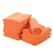 5 pc Ehome Thick Microfiber Cleaning Wiping dust Cloths Mops Set are Perfect for Restroom Easily Clean Without Chemicals Orange