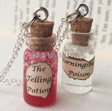 12pcs/lot The Telling Potion , Morningsbane Poison Bottle Necklace  by The Sin Eater's Daughter