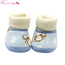 0-18Months Winter First Walkers Baby Ankle Snow Boots Fleece Shoes Winter Baby Boots Infants Warm Fur Wool Booties(China)