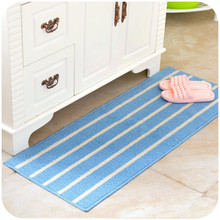 Floor Carpets Striped Bathroom Kitchen Carpet House Doormats Living Room Anti-Slip Tapete Rug Christmas Gifts(China)