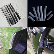 Youwinme 8pcs Car Door Edge Clear Protector Scratch Strip Trim Molding Decoration Guards Auto Bar Protection