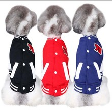 Cute small pet dog Baseball Jacket dog cat All-match Baseball Jacket Chihuahua small dog sport Coat jacket Cothes(China)