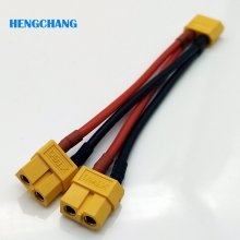 Free shipping 10CM 14awg silicone XT60 Female Parallel Connector Cable Extension Y Splitter XT60 Parallel Cable(China)