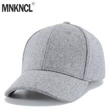 MNKNCL High Quality Autumn Winter Wool Baseball Cap Men Women Outdoor Sport Caps Snapbacks Bone Caps