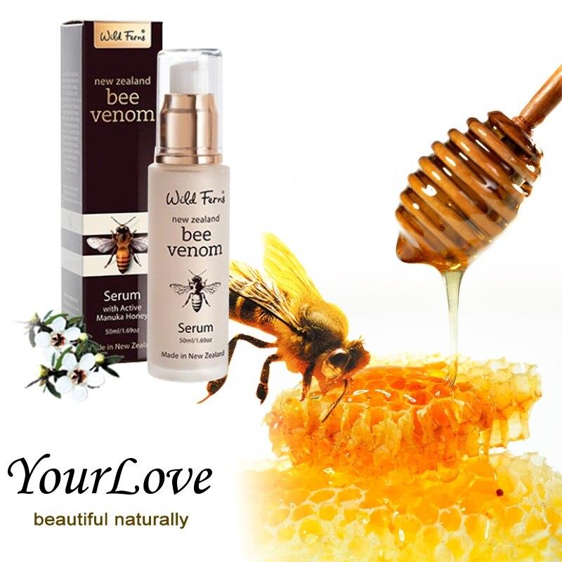 Original NewZealand Parrs Bee Venom Serum Active Manuka Honey Face Care Cream Collagen Elastin production Increase circulation<br>