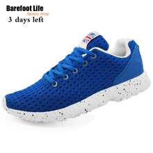 new blue color running shoes of woman and man,use air mesh upper is light breathable athletic sneakers woman and man