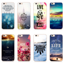 2017 New Shell For Apple iPhone 5 5S SE  6 6S 7 Plus 6SPlus Back Case Cover Printing Beautiful scenery English  Cell Phone Cases