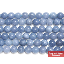 "Free Shipping 8MM Natural Stone Angelite Round Loose Beads 6 8 10MM Pick Size 15"" Strand SAB15"