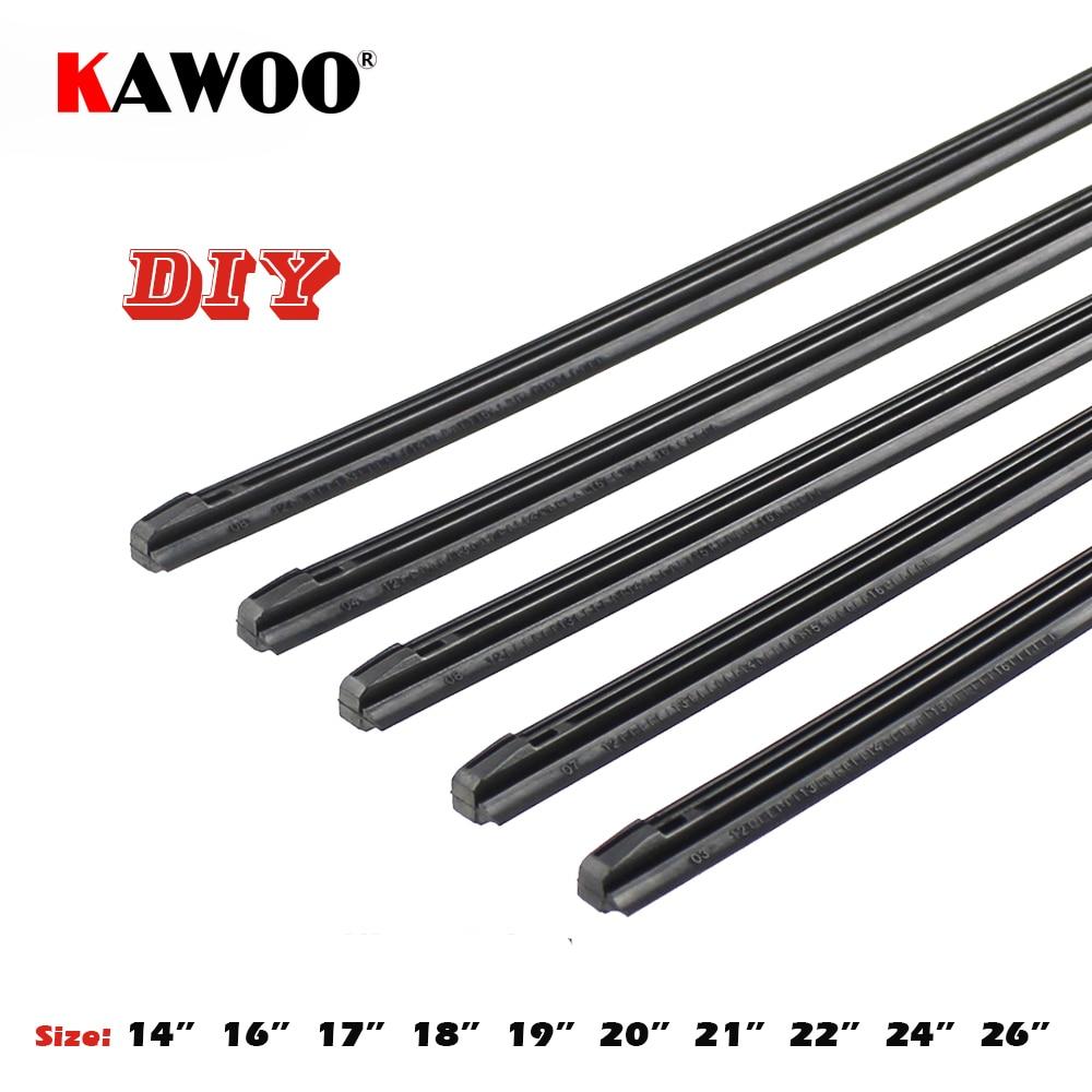 KAWOO Car Vehicle Insert Rubber strip Wiper Blade (Refill) 8mm Soft 14'' 16'' 17'' 18'' 19'' 20'' 21'' 22'' 24'' 26'' 28'' 1pcs Accessories