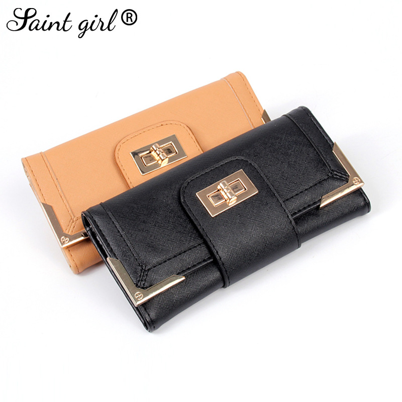 Hot new womens wallet Europe and the United States lock type long wallet womens clutch with key card pack factory direct<br><br>Aliexpress