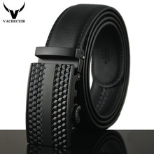 2017 Stylish Belts Men High Quality Genuine Leather Designer Belts For Men Belts Automatic Metal Buckle ceinture luxe homme Q198(China)