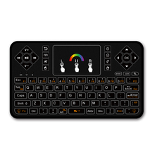 2.4GHz Q9 Mini Keyboard Wireless Qwerty Keyboard RGB Air Mouse Touchpad Multi Colorful for Android/Google Smart TV/ Tv Box(China)