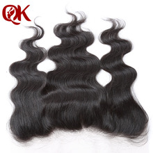 "7A Free shipping Virgin Brazilian Lace Frontal 13x4"" Bleached Knots Virgin Frontal Piece Body Wave Full Lace Frontal Wavy"