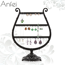 Metal Earrings Organizer Cup Shape Earring Holder Jewelry Display Necklace Display Rack Earring Srorage Tree Classic A160-2