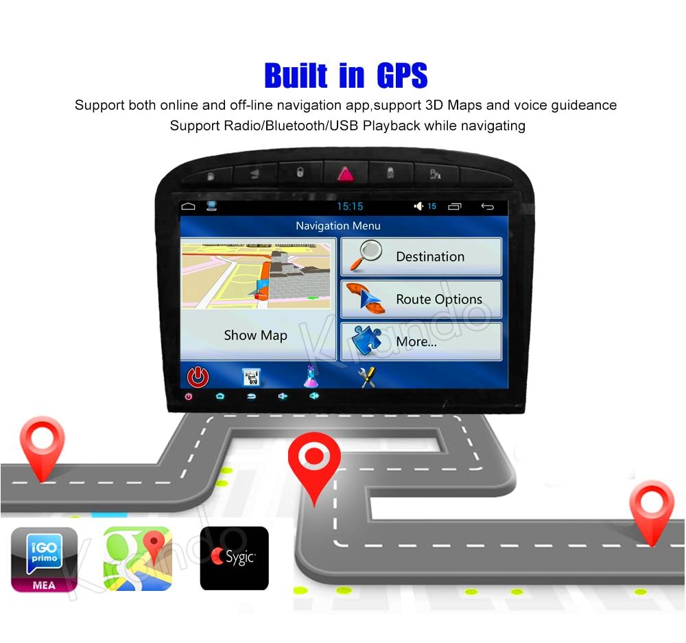 Krando Android car radio gps navigation multimedia system for PEUGEOT 408 2010 2012 2013 (3)