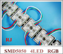 SMD 5050 RGB LED module waterproof LED advertising light module backlight for signs IP66 SMD5050 DC12V 4 led 0.96W free shipping