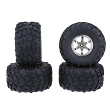 4Pcs/Set 1/10 Truck Tire Tyres Wheel for Traxxas HSP Tamiya HPI Kyosho RC Model Monster RC Car(China)