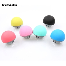kebidu Wireless Mini Mushroom Bluetooth Speaker Sucker Cup Audio Receiver Music Stereo Subwoofer USB For IOS Android PC(China)
