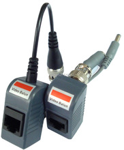 CJ-2004 10Pair/Lot CCTV Audio Video Balun Transceiver BNC UTP RJ45 Video Balun,Power-Video Over CAT5/5E/6 Cable(China)