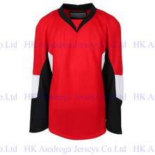 Custom Senators Embroidery Stitch Quick-Dry Flexible Long T-shirts Cheap ICE Hockey Jersey Shirt For Men Women Youth(China)