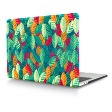 HRH Green Leaves Laptop Body Shell Protective Hard Case Sleeve for Macbook Pro Retina13 12 15 Air 13 11 New Pro Touch Bar 13 15