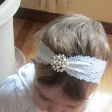 New Hot Selling Children Lace diamond hairband   Rhinestone Headband for    headwrap