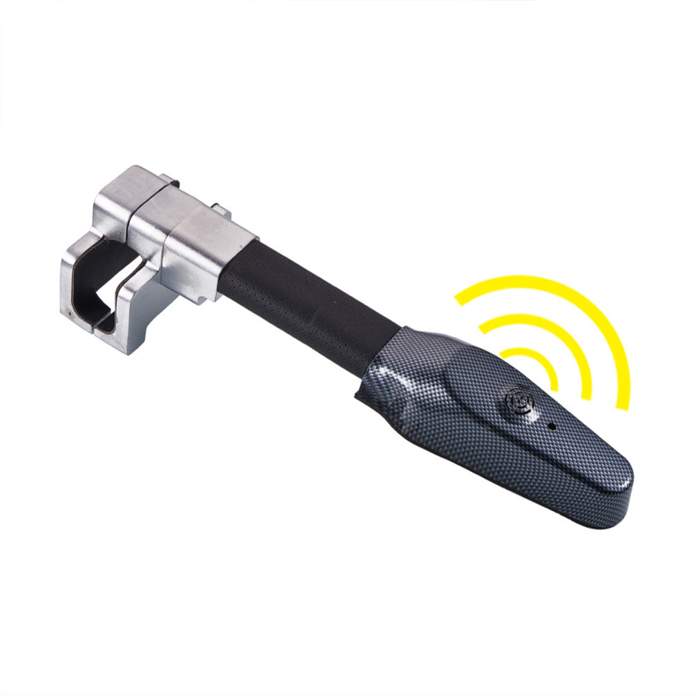 Anti-Theft Retractable Car Steering Wheel Lock with Keys Universal Vehicle Security Protection Safety Tool