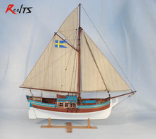 RealTS The 1770 Swedish royal yacht Yacht sail boat model Classic wooden model ship Luxurious internal structure boat