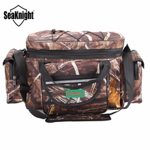SeaKnight SK003 Outdoor Lure Fishing Bag Large Size Waterproof Multifunctional Fishing Bag Backpack Shoulder Bags Camouflage