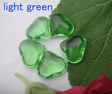 50pcs/lot Beautiful 22*18mm Crystal Heart Shape light green Smooth Glass Pendant, Diy Glass Beads Curtain Accessories,
