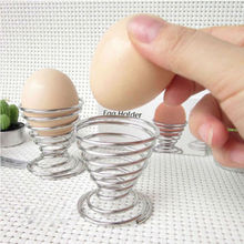 1pcs Boiled Eggs Holder Hot Products Stainelss Steel Spring Wire Tray Egg Cup Cooking Tool
