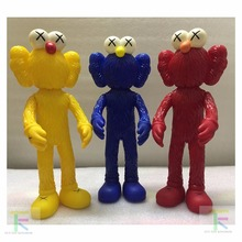 "16"" 40cm 2016 Kaws Thailand Bangkok Exhibition Sesame Street Kaws BFF PVC Doll Toy Collections without retail box(China)"